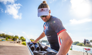 Frazier Christie cleans his single scull at Caversham - Angus Thomas/Rowing Classifieds