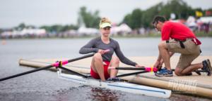 Hannah Scott and coach Geoff Bones of Bann Rowing Club in Ireland