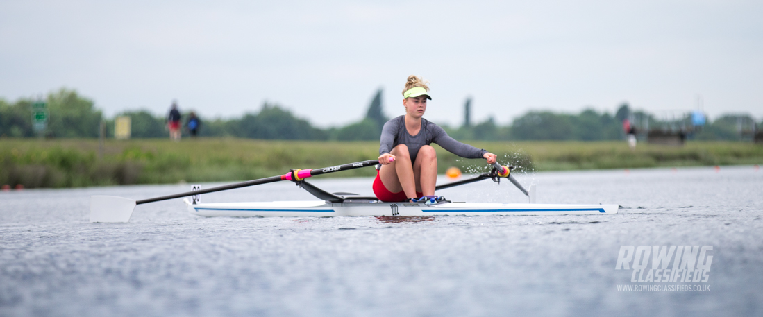 Hannah Scott of Bann Rowing Club Coleraine, Ireland wins Championships single sculls at national Schools Regatta 2017