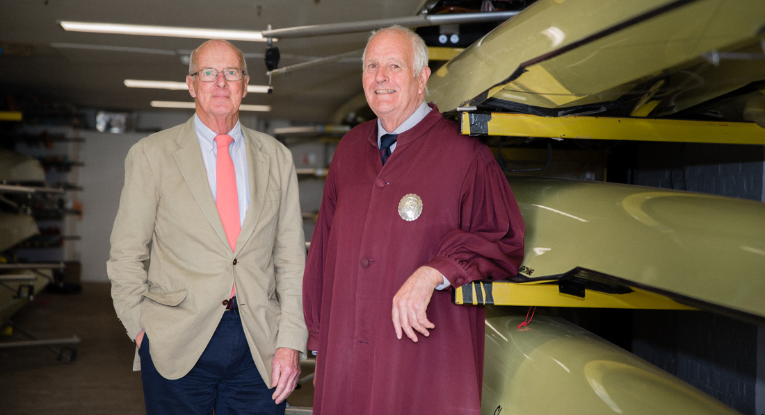 Harrods Boat Club members David Thomas and John Leathes photographed at Leander Club by Angus Thomas May 2017