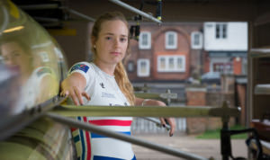 Holly Norton British Rowing shot by Angus Thomas