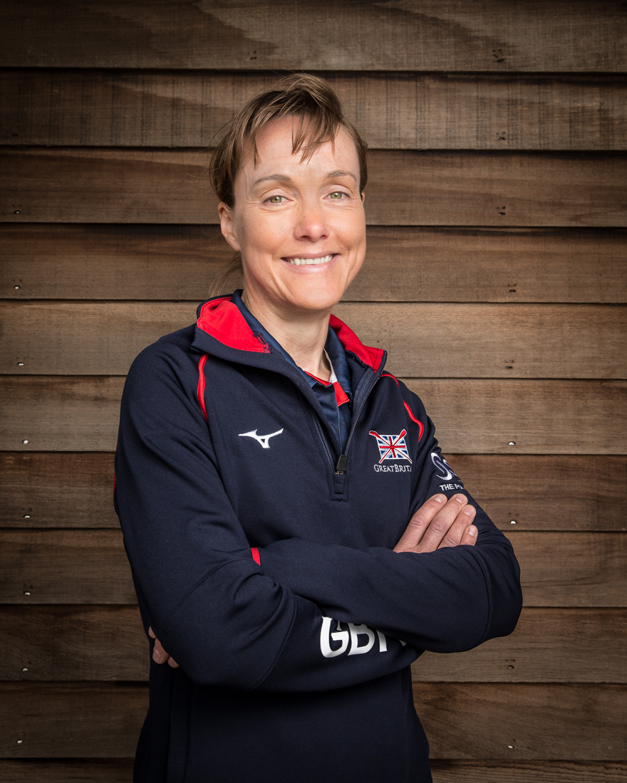 Jane Hall international rower and coach at British Rowing photographed by Angus Thomas
