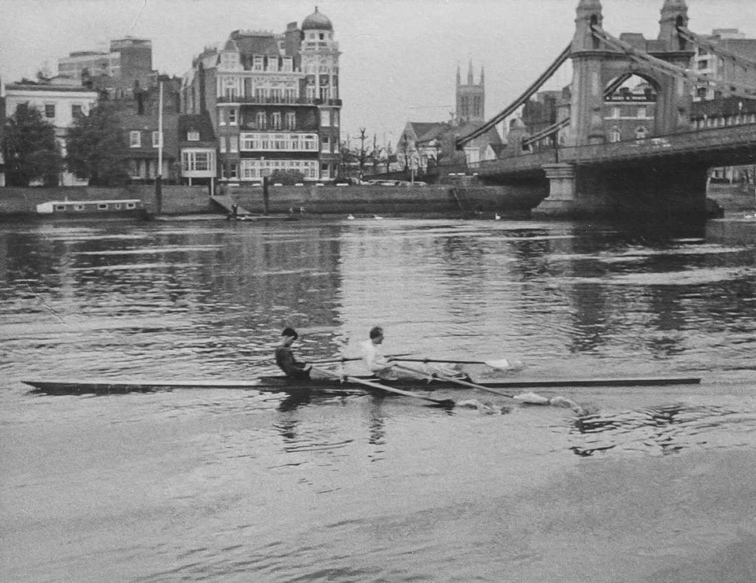 The Harrods Rowing Club double scullers of David Thomas and John Leathes