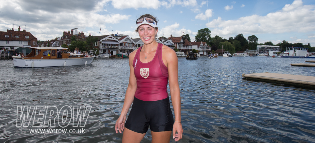 Rowing New Zealand single sculler Hannah Osborne at Henley Royal Regatta