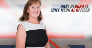 Anne Redgrave Chief Medical Officer of British Rowing photographed at The Circle Hospital, Reading
