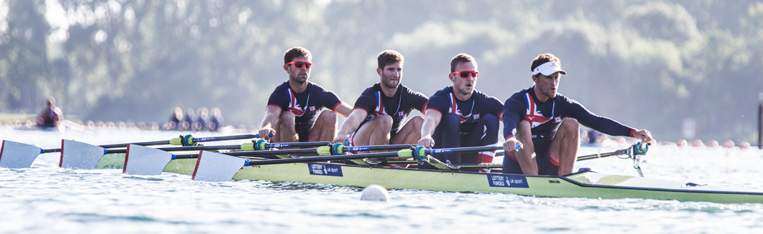 The Great Britain quad training for the World Championships at Caversham
