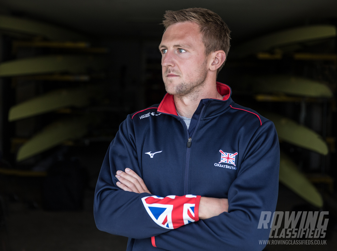 John Collins at Leander Club boathouse - Collins is part of the quadruple scull heading for Sarasota #WRChamps