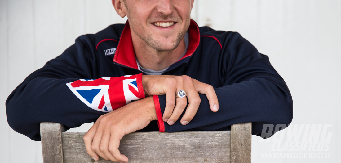 John Collins, senior oarsman with the British Rowing squad heading for the World Rowing Championships