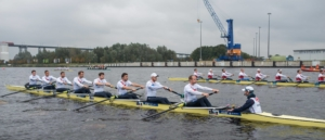 The NetzCup crews coming off the start in their sprint race on Saturday