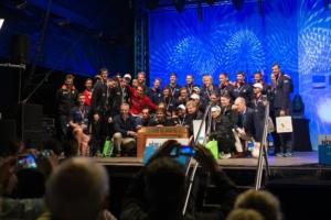 The NetzCup crews on the final Sunday celebrations
