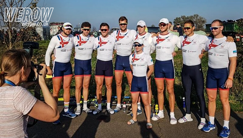 The Great Britain rowing eight at NetzCup 2017