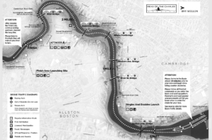 Head of the Charles course map from WEROW rowing UK