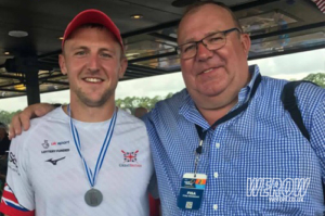 John Collins with his father at WRChamps in sarasota