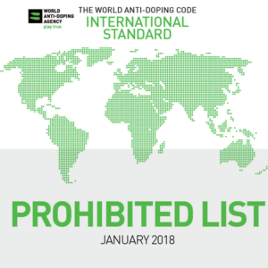 Doping regulations updated for 2018