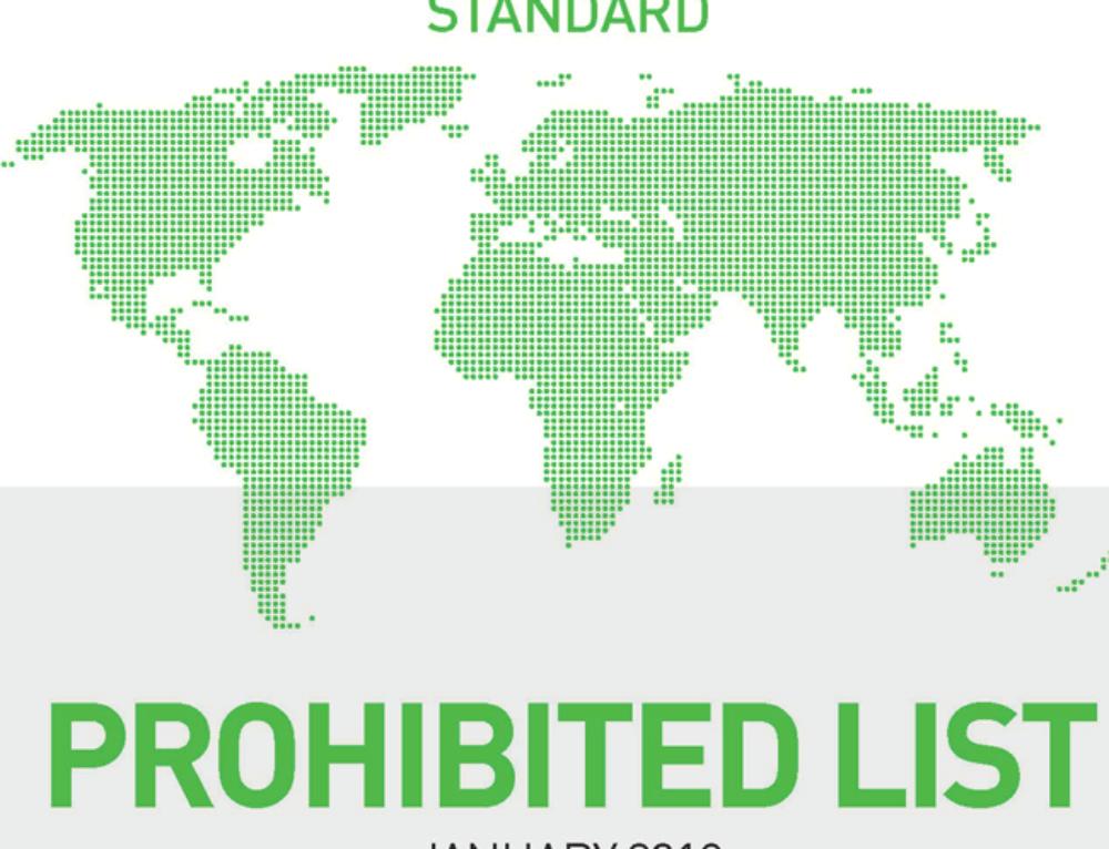 World Anti-Doping Agency updates Prohibited list