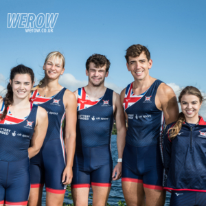 Anna Corderoy, Olly Stanhope, Grace Clough, Gierdre Rakauskaite and James Fox represent Great Britain in the PR3 mixed four