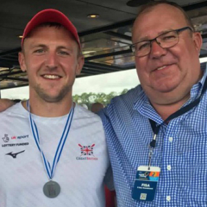 Philip-and-rowing-son-John-Collins-and-the-World-Championships-2017