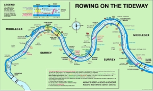Rowing on the Tideway map
