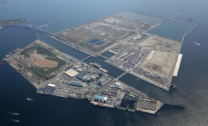 The Sea Forest waterway, site of the Olympic rowing venue for Tokyo 2020