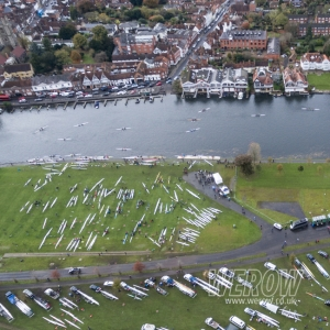 Henley Long Distance Sculls from the air WEROW rowing uk
