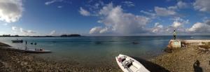 Imogen Walsh teaching rowing in the Maldives