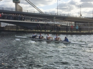 Kings School Rowing fastest J16 four at Docklands Head