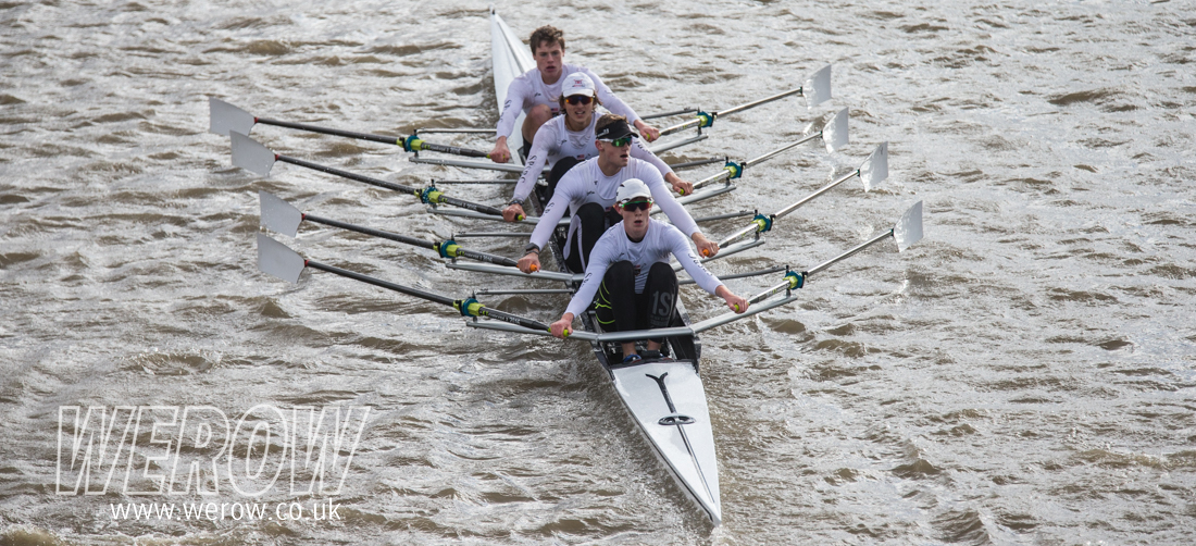 St Pauls School win JM4x at Fullers Head of the River Fours 2017 WEROW
