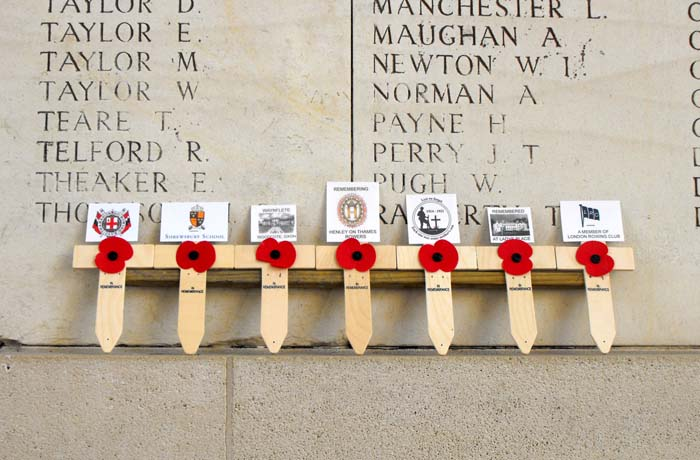 The Willoughby's remembering rowers at the Menin Gate