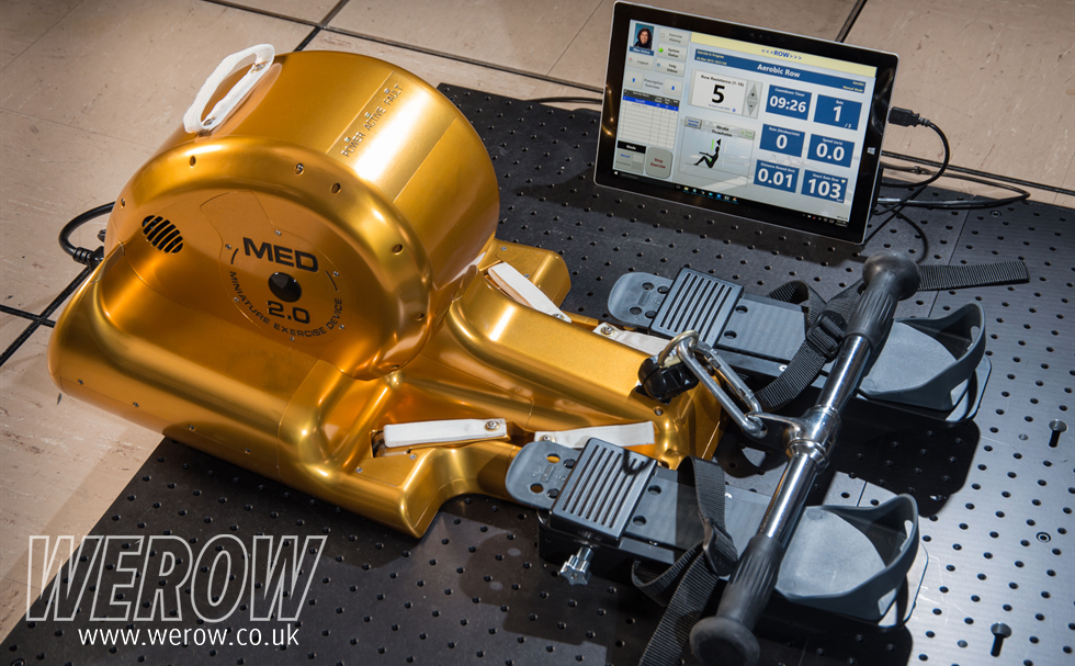 The CR2 indoor rowing machine, the ergo for the International Space Station