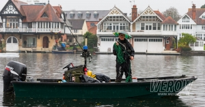 A marshall at the Henley Long Distance Sculls 2017
