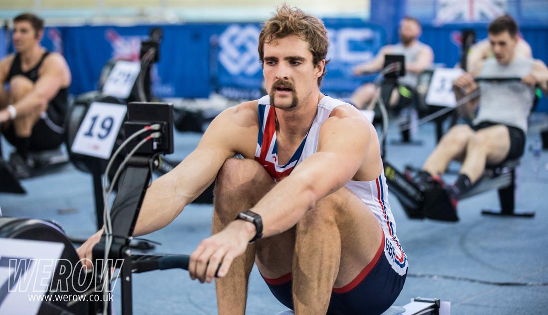 Adam Neill winning British Indoor Rowing Championships 2017