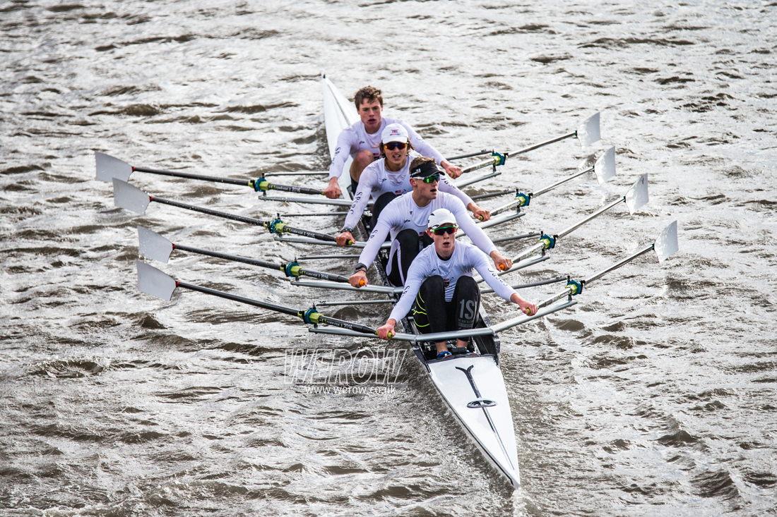 Calvin Tarczy of St Paul's School winning at The Fours Head of the River