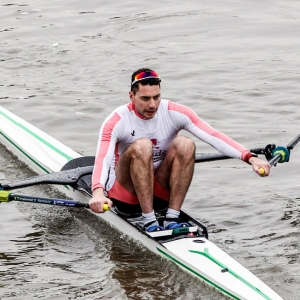 Jamie Kirkwood winning Scullers Head 2017