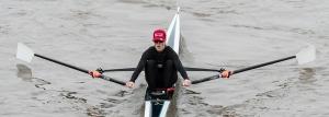Meghann Jackson of London Rowing Club at Scullers Head WEROW