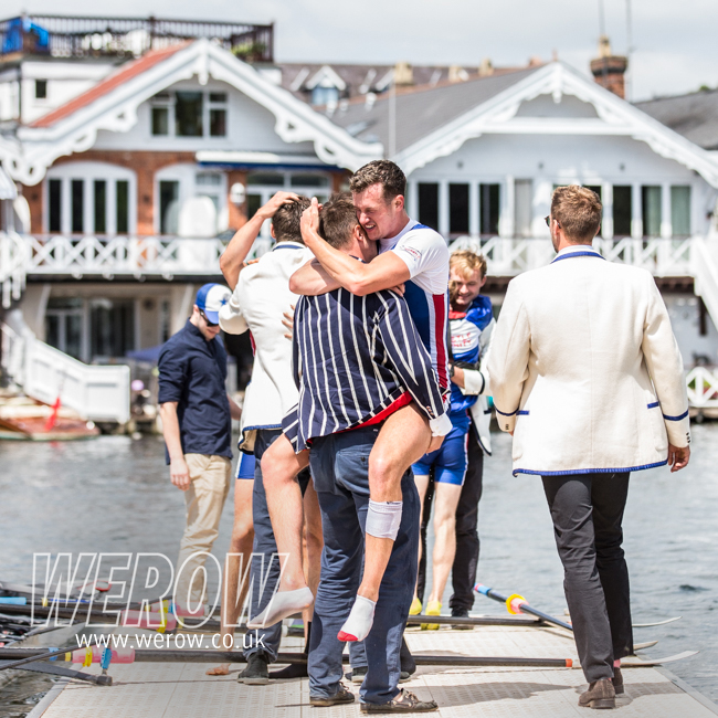 Newcastle University Boat Club winning the Prince Albert Cup at HRR 2017