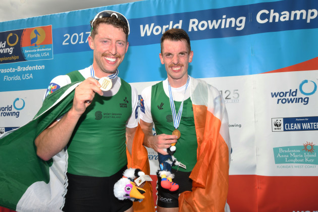 O'Donovan and O'Driscoll at the Rowing World Championships