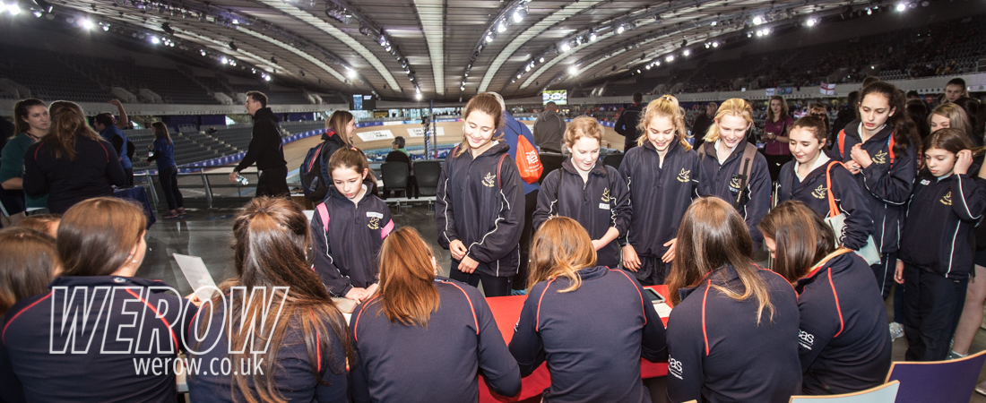 GB women's rowing team signing autographs at BRIC17