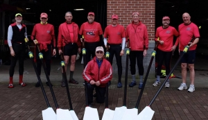 Ancient mariner rowers outside boathouse WEROW