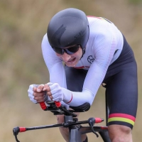 Hamish Bond winning NZL time trials