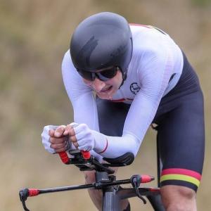 Hamish Bond winning NZL time trials