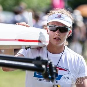 Lucy Glover boating at Henley Women'sRegatta 2017 at which she won Elite Sculls