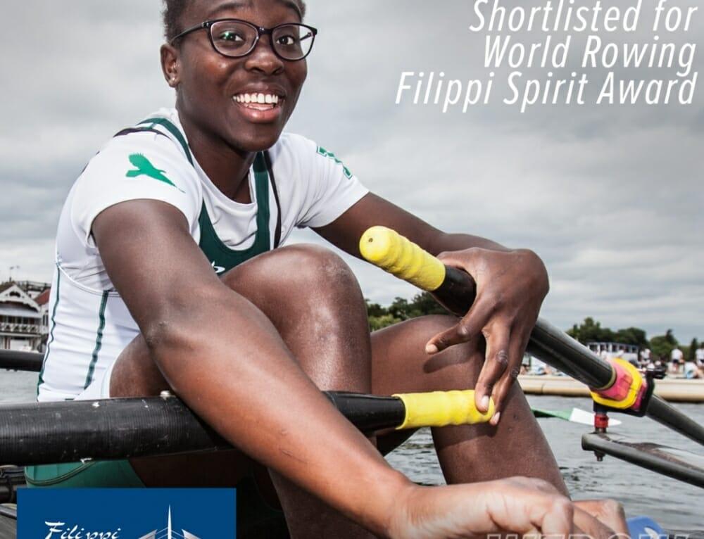 """Oluwaseun Olusanya  of Exeter University shortlisted for the World Rowing """"Filippi Spirit Award"""""""
