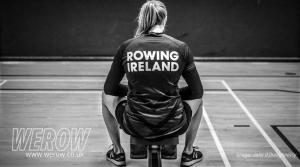 Sanita Puspure at Irish Indoor Rowing Championships 2018