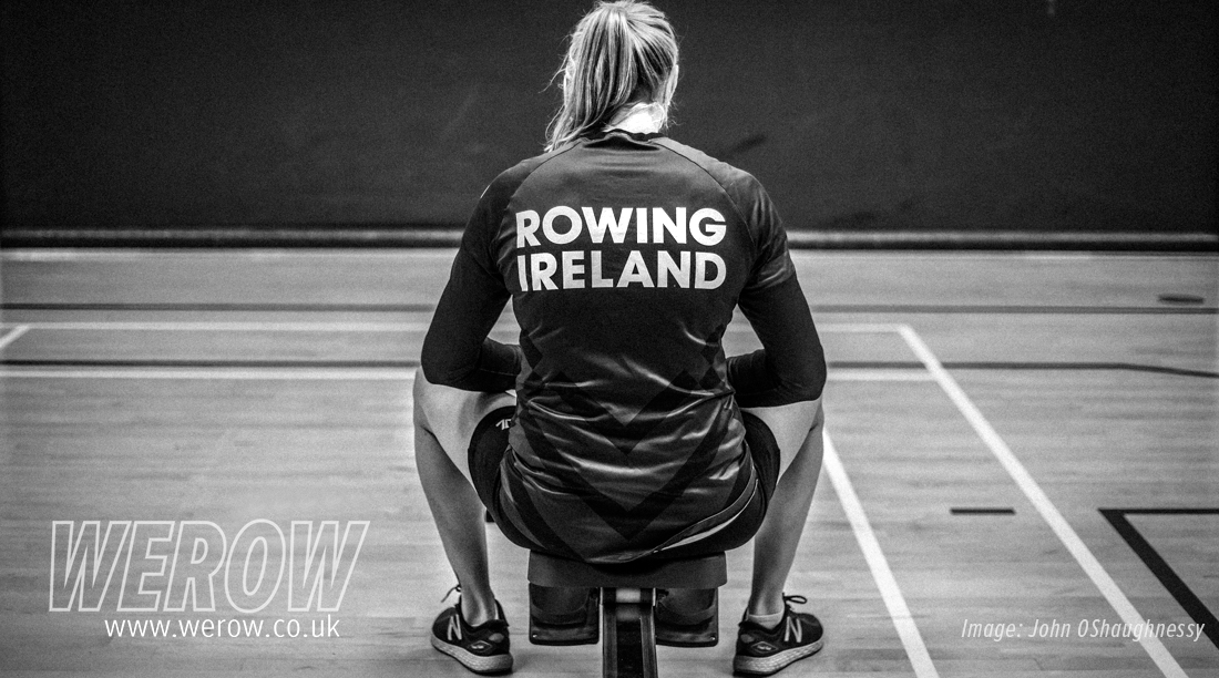 Sanita Puspure at Irish Indoor Rowing Championships 2018 - John OShaughnessy