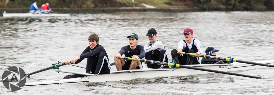 St. Paul's School winning the J16.4+ stroked by Dominic Valt