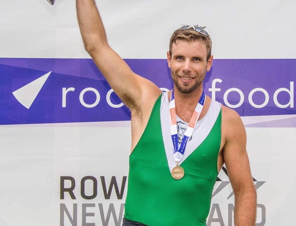 Success for Robbie Manson and Brooke Donoghue at New Zealand Rowing Championships