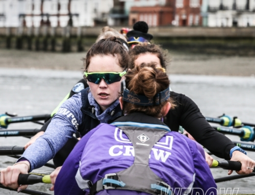 University of London Boat Club women's crews take on OUWBC for a Tideway match