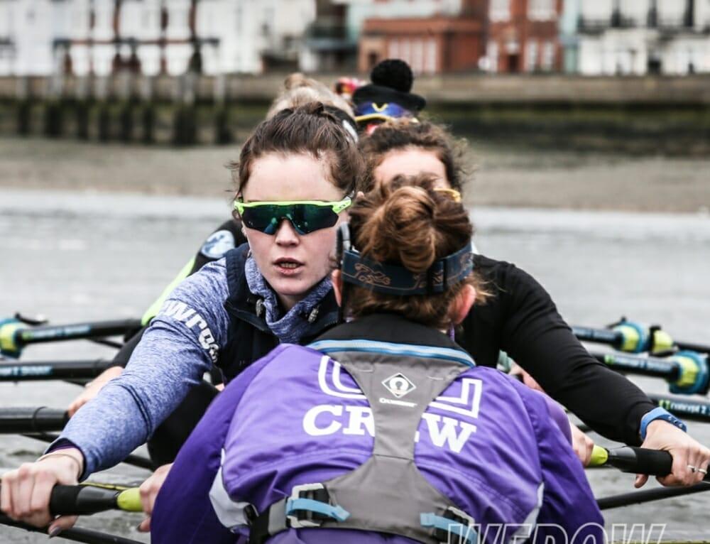 University of London Boat Club women's crews take on OUWBC for a Tideway match