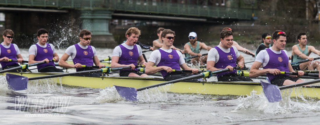 The University of London v Cambridge University Boat Race match