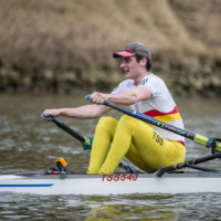 Laurence Joss of Tideway Scullers at February Assessment
